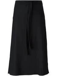 Helmut Lang Wrap Midi Skirt Blue