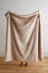 Anthropologie Fireside Faux Fur Throw Pink