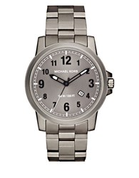 Michael Kors Paxton Titanium Three Link Bracelet Watch Gunmetal