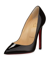 Christian Louboutin Pigalle Patent Leather Red Sole Pump Black