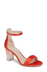 Kenneth Cole New York 'Lex' Ankle Strap Sandal Persimmon Satin
