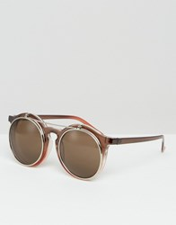 Jeepers Peepers Round Sunglasses Brown