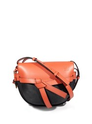 Loewe Gate Mini Leather Cross Body Bag Orange Multi