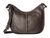 Frye Cara Saddle Smoke Washed Oiled Vintage Hobo Handbags Black