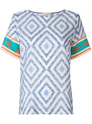 Antonia Zander Toto Safari Blouse Blue