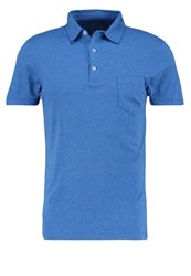 J.Crew Slim Fit Polo Shirt Heather Stream Blue