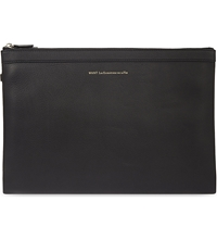 Want Les Essentiels Folded Leather Document Case Black