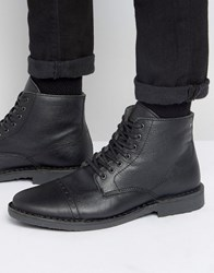 Jack And Jones Gobi Warm Leather Boots Black