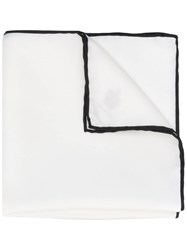 Dolce And Gabbana Classic Square Scarf White