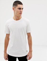 Only And Sons Longline T Shirt Bright White