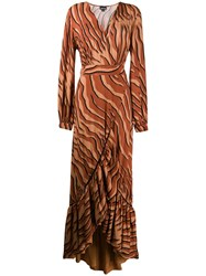 Just Cavalli Ruffled Trim Animal Print Dress 60