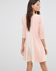 Traffic People Split Back Dress Peach Pink