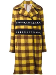 N 21 No21 Checked Embellished Coat Brown