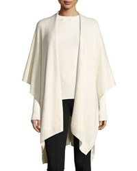 The Row Hern Cashmere Cape Ivory