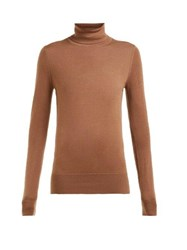 Extreme Cashmere No. 96 Breeze Roll Neck Cashmere Sweater Tan