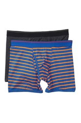 14Th And Union Rugby Stripe And Solid Boxer Briefs Pack Of 2 Gray