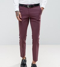 Noose And Monkey Wedding Super Skinny Suit Pants Red