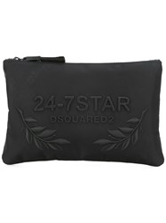 Dsquared2 24 7 Star Logo Pouch Black