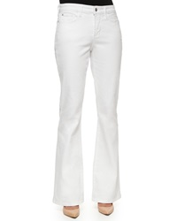 Nydj Farrah Flare Leg Jeans Optic White