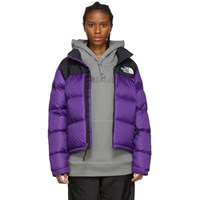The North Face Purple And Black Down 1996 Retro Nuptse Jacket