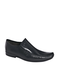 Base London Leather Loafers Black