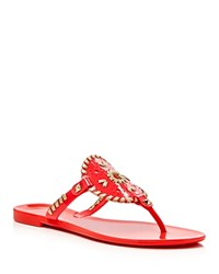 Jack Rogers Georgica Jelly Thong Sandals Pink Gold