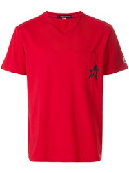 Perfect Moment Star V Neck T Shirt Red