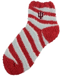 For Bare Feet Indiana Hoosiers Sleep Soft Candy Striped Socks