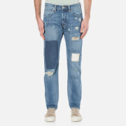 Edwin Men's Ed 55 Regular Tapered Jeans Pulled Wash Blue