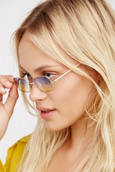 Free People Womens Square If I Care Sunnies