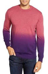 Men's Bugatchi Ombre Crewneck Sweater Rasberry