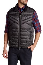 Bugatchi Stand Up Collar Vest Gray