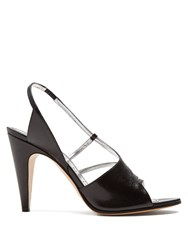 Givenchy Show Line Leather High Heel Sandals Black