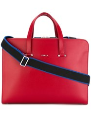 Furla Large Vulcano Briefcase Men Calf Leather One Size Red