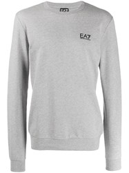 Emporio Armani Ea7 Logo Long Sleeve Sweatshirt Grey