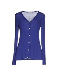 Gold Case Knitwear Cardigans Women Bright Blue