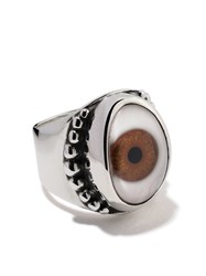 The Great Frog Beaded Eye Ring Silver