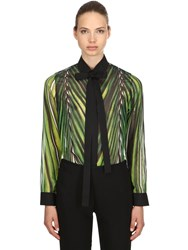 Elie Saab Printed Crepe Georgette Shirt Multicolor