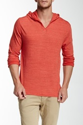Threads For Thought V Neck Long Sleeve Hoodie Red
