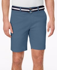 Club Room Men's Classic Fit Stretch Shorts Created For Macy's Wedgewood Blue