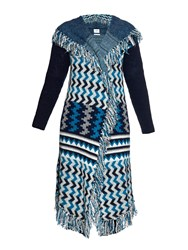 Banjo And Matilda Marrakech Intarsia Knit Hooded Cardigan