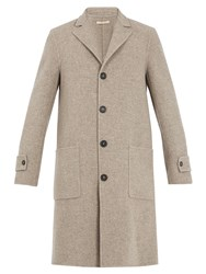 Massimo Alba Single Breasted Wool Coat Beige