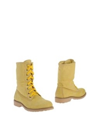 Lumberjack Ankle Boots Yellow