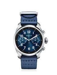 Montblanc Summit 2 Steel And Nylon Smart Watch Black Blue
