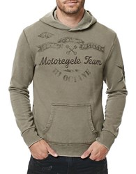 Buffalo David Bitton Hooded Cotton Pullover Laurier