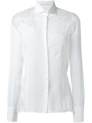 Ermanno Scervino Cut Out Lace Shirt White