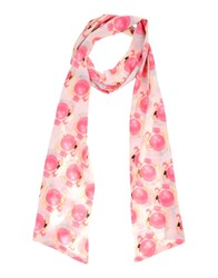 Anna Rachele Jeans Collection Oblong Scarves Pink