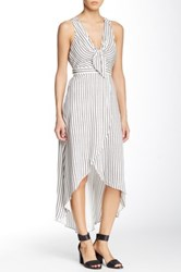 Bcbgeneration Striped Woven Hi Lo Dress White