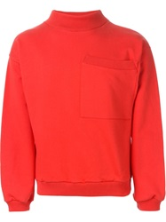 Gosha Rubchinskiy Chest Pocket Sweatshirt Red