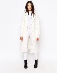 Ichi Talla Checked Jacket Cloud Dancer White